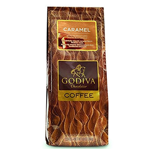 Cafe Godiva Caramel Coffee 10 Oz (Pack of 2)