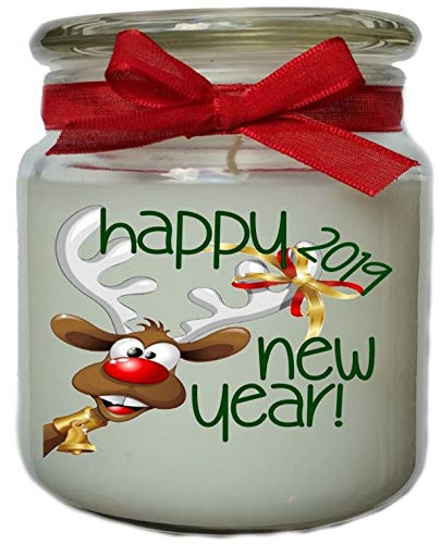 Falls Bridge Candles Happy New Year, Sugar Cookies Scented Jar Candle, 16-Ounce, White (Happy Holidays Cookie Jar)