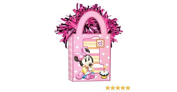 110341 Amscan Girls Disney Minnie 1st Mini Tote Party Birthday Balloon Weight 5.7 oz Pink TradeMart Inc