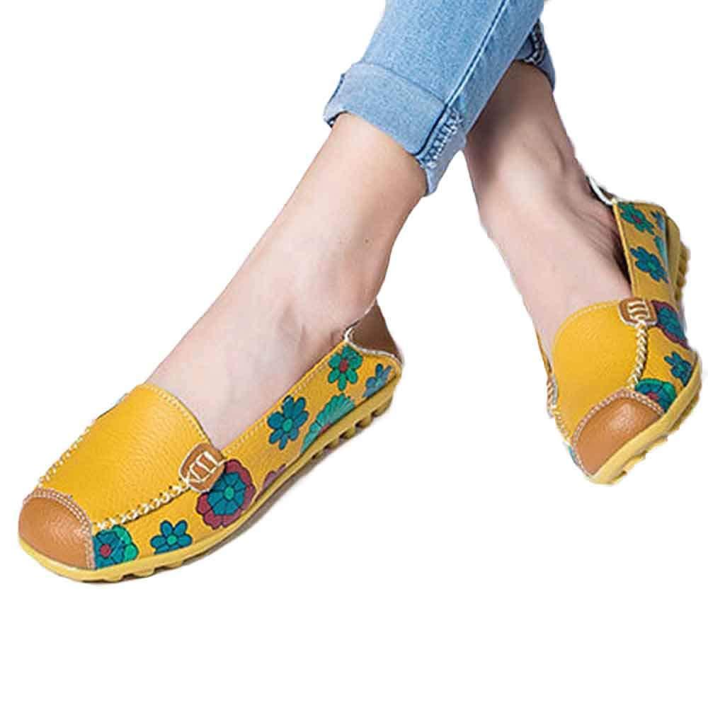 Chaussures en 17321 Femmes,Sonnena Jaune Bottes Femme Nouvelles Femmes Chaussures en Cuir Mocassins Appartements De Loisirs Doux Femmes Chaussures De Sport Jaune 60cbe03 - automaticcouplings.space