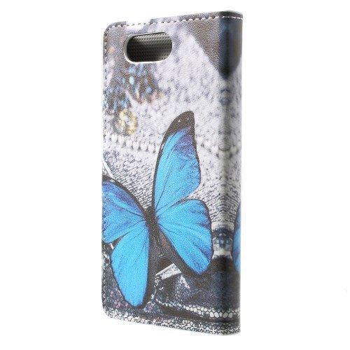caja del teléfono móvil de la cubierta Caso de Negocio Sony Xperia Z3 Compact - SOPORTE DEL LIBRO tirón de la caja mariposa