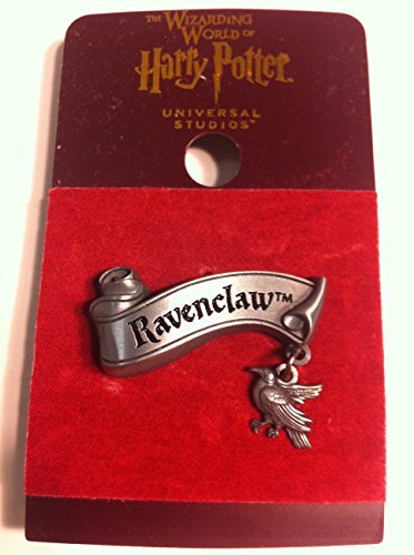 [Wizarding World of Harry Potter : Ravenclaw Banner with Mascot Charm Metal Trading Pin] (Ravenclaw Mascot)