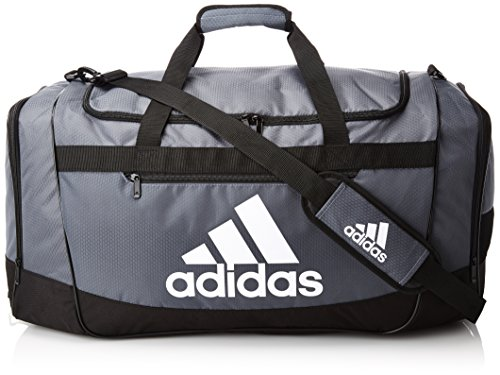 adidas Defender III medium duffel Bag, Onix/Black/White, One Size