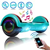 UNI-SUN 6.5' Hoverboard for Kids, Two Wheel Electric Scooter, Self Balancing Hoverboard with Bluetooth and LED Lights for Adults, UL 2272 Certified Hover Board(Ultimate Green)