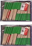 2 Boxes of Mini Mexico Toothpick Flags%2
