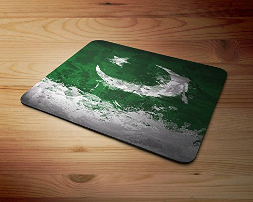 Pakistan Pakistani Painted Flag Rubber Mouse Mat PC Mouse - Images Models Pakistani