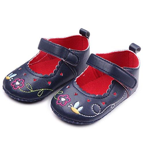 Clode® Neugeborene Baby Blumendruck Turnschuh Anti Rutsch weiche Sole Kleinkind Schuhe Schwarz