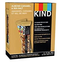 KIND Bars Almond Caramel Sea Salt 12ct, Gluten Free, 40g