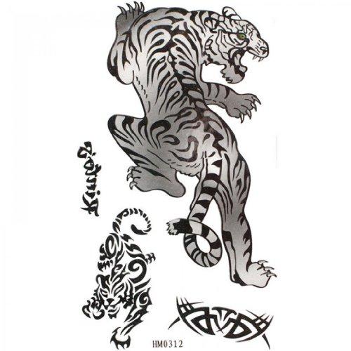 Temperature Tatouages Tigre Noir Animal Tatouage Temporaire Spestyle