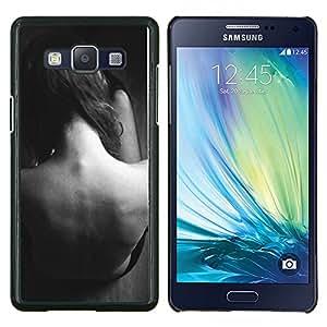 Stuss Case / Funda Carcasa protectora - Copia de señora Woman Negro Blanco Sad - Samsung Galaxy A5 ( A5000 ) 2014 Version