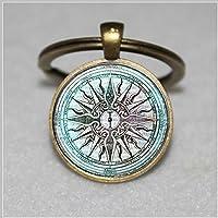 Llavero de cristal con diseño de la antigua