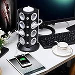 Safemore-Presa-multipla-a-torre-con-15-prese-e-2-slot-USB-2500-W10-A-colore-nero