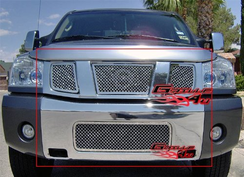 04-07 Nissan Armada/Titan Mesh Grille Grill Combo Insert for cheap