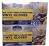 Member's Mark Commercial 100% Latex & Powder Free Vinyl Gloves 120-2 PK (extra long)