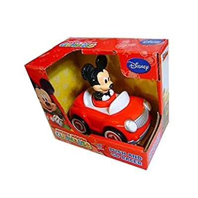 Disney Mickey Mouse Push and Go Racer Car: Toys & Games