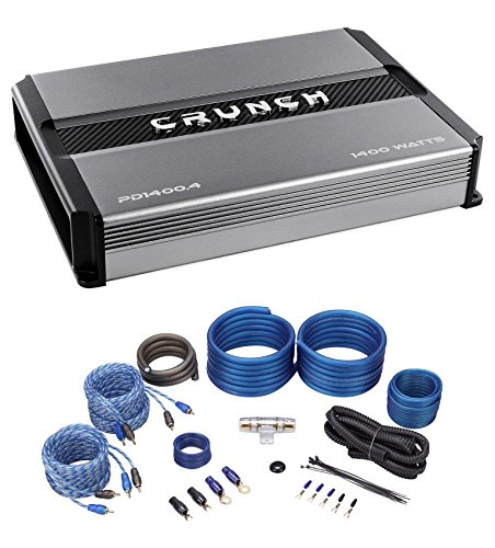 Crunch PD2000.4 2000w 4-Channel Pro Power Car Stereo Amplifier Class AB+Amp Kit by Crunch
