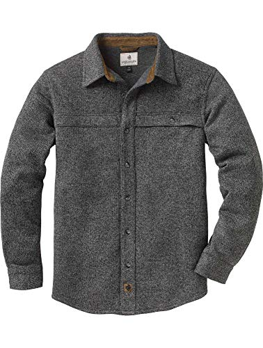Legendary Whitetails Silent Hide Sweater Fleece Button Down Charcoal Heather X-Large
