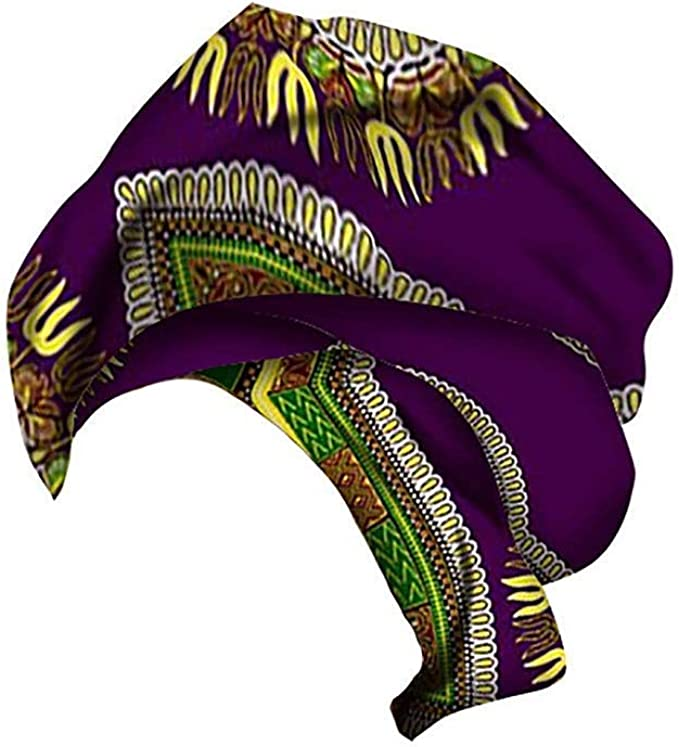 Xinvivion Pañuelo de Estampado de Algodón de cera Africana para Mujer - Cintas para la Cabeza Turbantes Hijab Envoltura de Cabello Elástico: Amazon.es: Ropa y accesorios