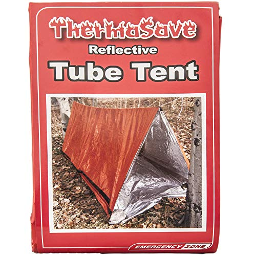 Emergency Zone Reflective Green Survival 2 Person Tube Tents. Available in 1, 2, 3, 48 Packs. Orange Reflective, 1