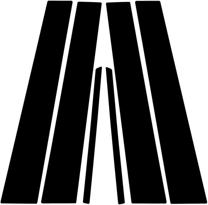 Aluminum Brushed Black Rvinyl Rtrim Pillar Post Decal Trim for Toyota Camry 1997-2001