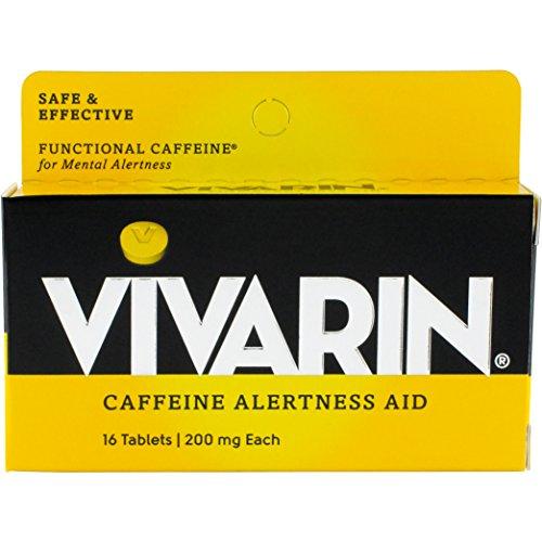 Vivarin Caffeine Alertness Aid, 200mg Tablets, 16 Count, Functional Caffeine for Mental Alertness, Same Caffeine as a Cup of Coffee Caffeine Alertness Aid Tablets