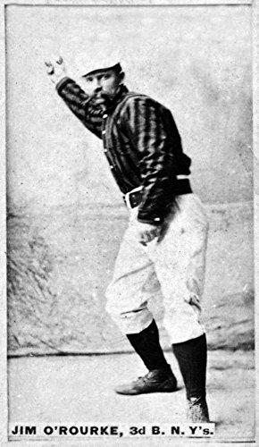 New York Giants - Jim O'Rourke - Baseball Card 22546 (24x36 SIGNED Print Master Art Print - Wall Decor Poster)