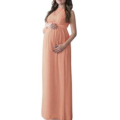 cacddf4cdfb1b Women Maternity Stretch Dress,Elegant Sleeveless Pregnant Lace Maternity  Dress Dress Photography Maternity Wrap Dress Photo Shoot Props Pregnancy  Maxi ...