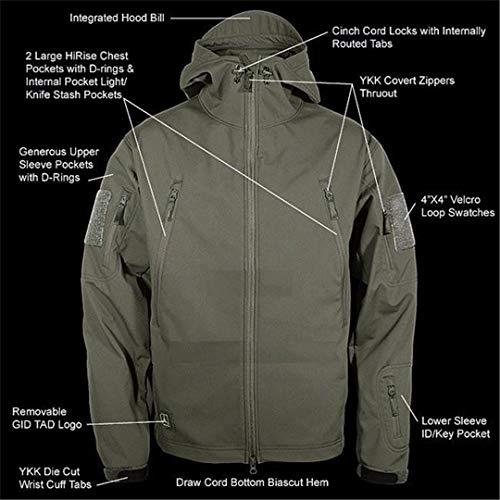 Outdoor Sportiva Giacche Outfit Softshell Impermeabili Tuta Abbigliamento Hunting Termico Uomo 5 Weiyouyo Da wZqIdPI