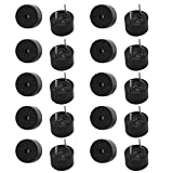 Aexit 20pcs DC 5V Active Buzzer Magnetic Continous Beep Tone Alarm 9mm x 5.5mm