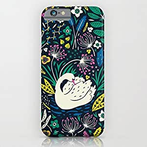 Wild Swan for iPhone 6 plus Case, TPU iPhone 6 plus Case