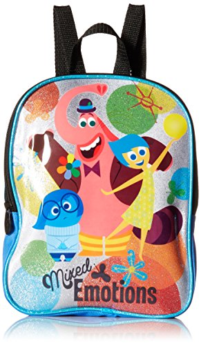 Disney Girls' Inside Out Mini 10 Inch Backpack, Blue, One ()