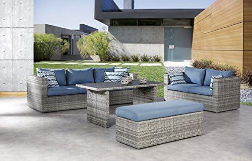 Lounge Escobillero Lounge Juego de Lounge de grupo Jardín – Muebles de Jardín Jardín sofá: Amazon.es: Jardín