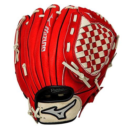 Mizuno Prospect Baseball Glove, Red/Cream, Youth/Kids, 10