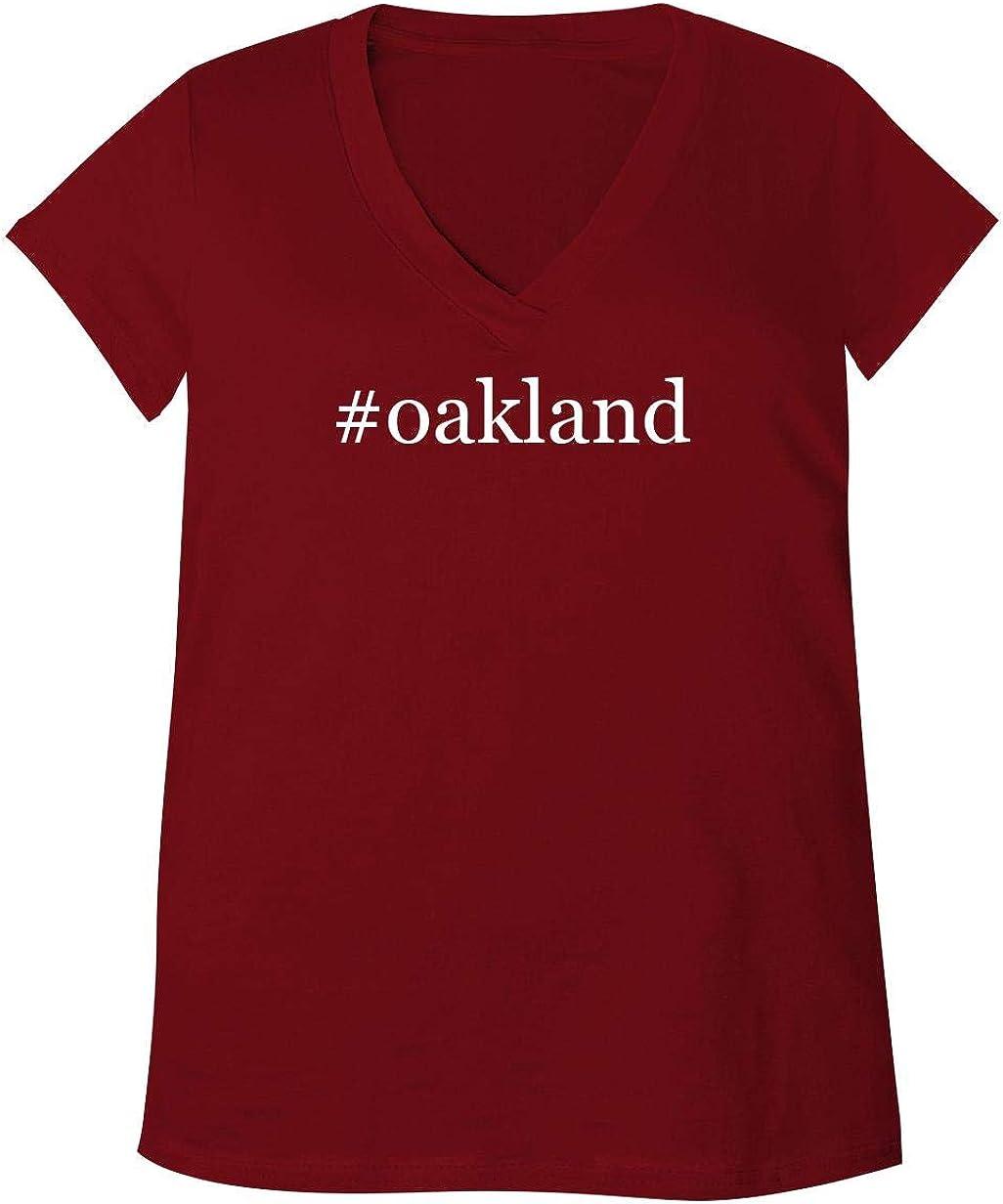 #Oakland - Adult Bella + Canvas B6035 Women's V-Neck T-Shirt 51DlEBk-xPL