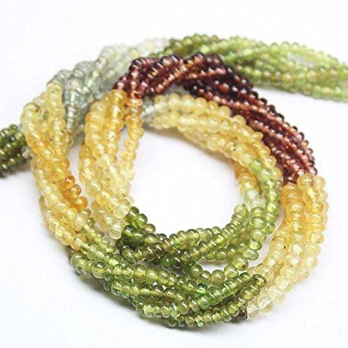 Multi Sapphire Tundra Smooth Loose Gemstone Craft Beads Strand 14