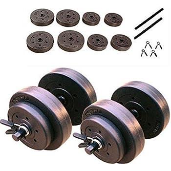 Amazon.com : golds gym 40 pound lb vinyl cement dumbbell weight set