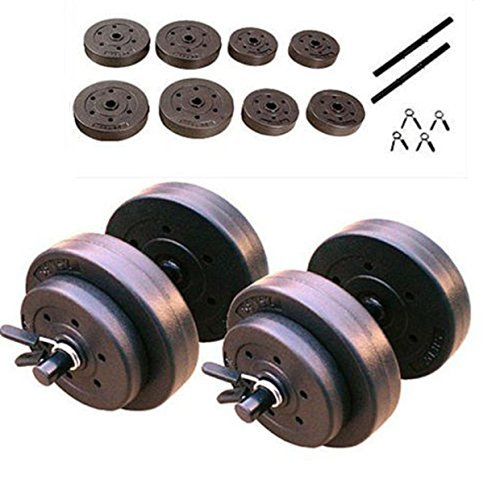 Cap Barbell Lift Gold's Gym Body 40 LB Full Dumbbell Set Arms Adjustable Hand Weights Exercise - Golds Dumbells Rubber Gym