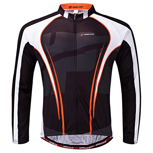 sponeed Men's Ourdoor Sportwear Bike Fit Cycle Jersey Bicyle Clothes US L Deep Brown