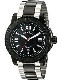 Seacloud Mens Swiss Automatic Two Tone Stainless Steel Bracelet Watch, (Model: 3110B)