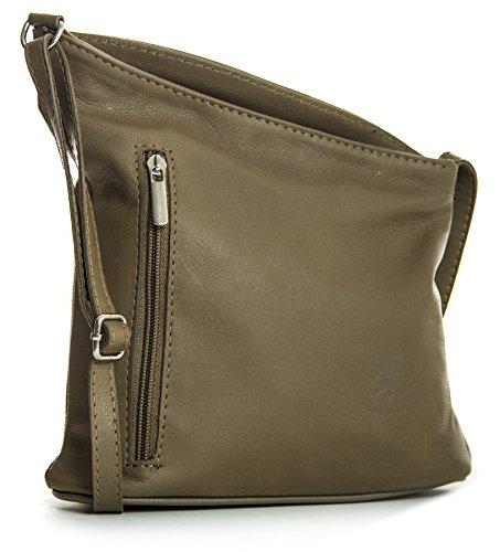 Handbag Bandoulière Taupe Petite Venenzi Italien Sac Véritable Souple Cuir Shop Marron À Big Dark dvROxZd