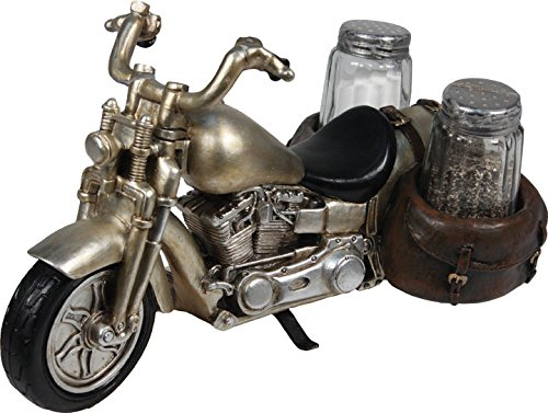 (River's Edge Products Roads End Motorcycle Salt & Pepper Shaker Set)
