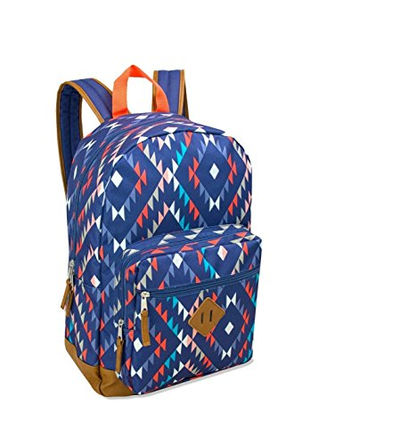 17.5 Inch Classic Backpack with Reinforced Vinyl Bottom and Comfort Padding (Aztec Shades)