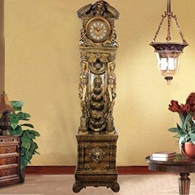 French Grandfather Floor Clock Water Fountain Fog Mist Maker,led Light Home Room Decor