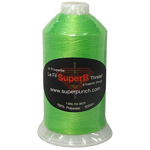 SuperB Polyester Embroidery Thread 40wt 5000m. Neon Green 1183