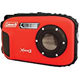 Coleman C9WP-R Xtreme3 20 MP Waterproof Digital Camera with Full 1080p HD Video (Red)