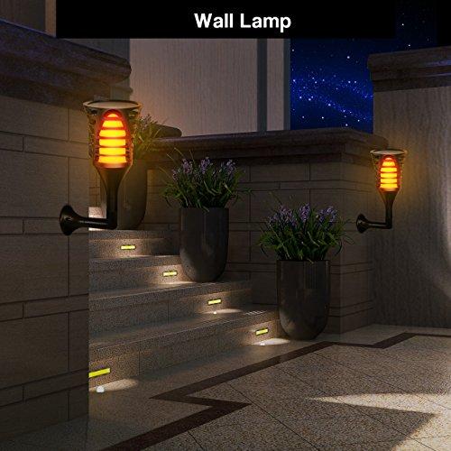 Led Landscape Lights Flickering: InnoGear Solar Lights Outdoor, Upgraded LED Flame Light 3