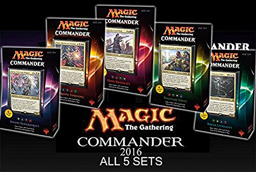 Commander 2016 MTG Magic The Gathering SET OF ALL 5 DECKS by Magic: the Gathering