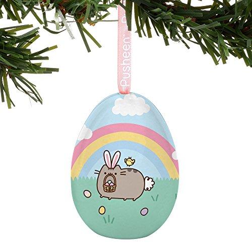 Department 56 Pusheen Easter Bunny Egg Hanging Ornament, 2.2