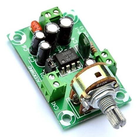 Electronics-Salon Battery Supply Audio Mono Amplifier Kit, NJM386D, LM386