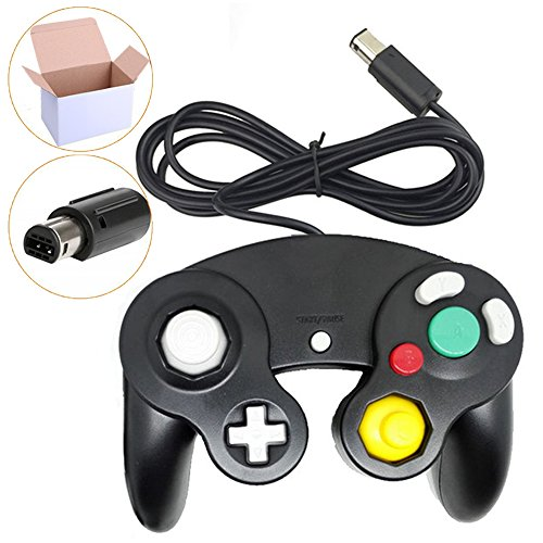 Poulep NGC Wired Controller for Wii Gamecube (Black)